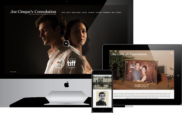 Joe Cinque's Consolation Online screens