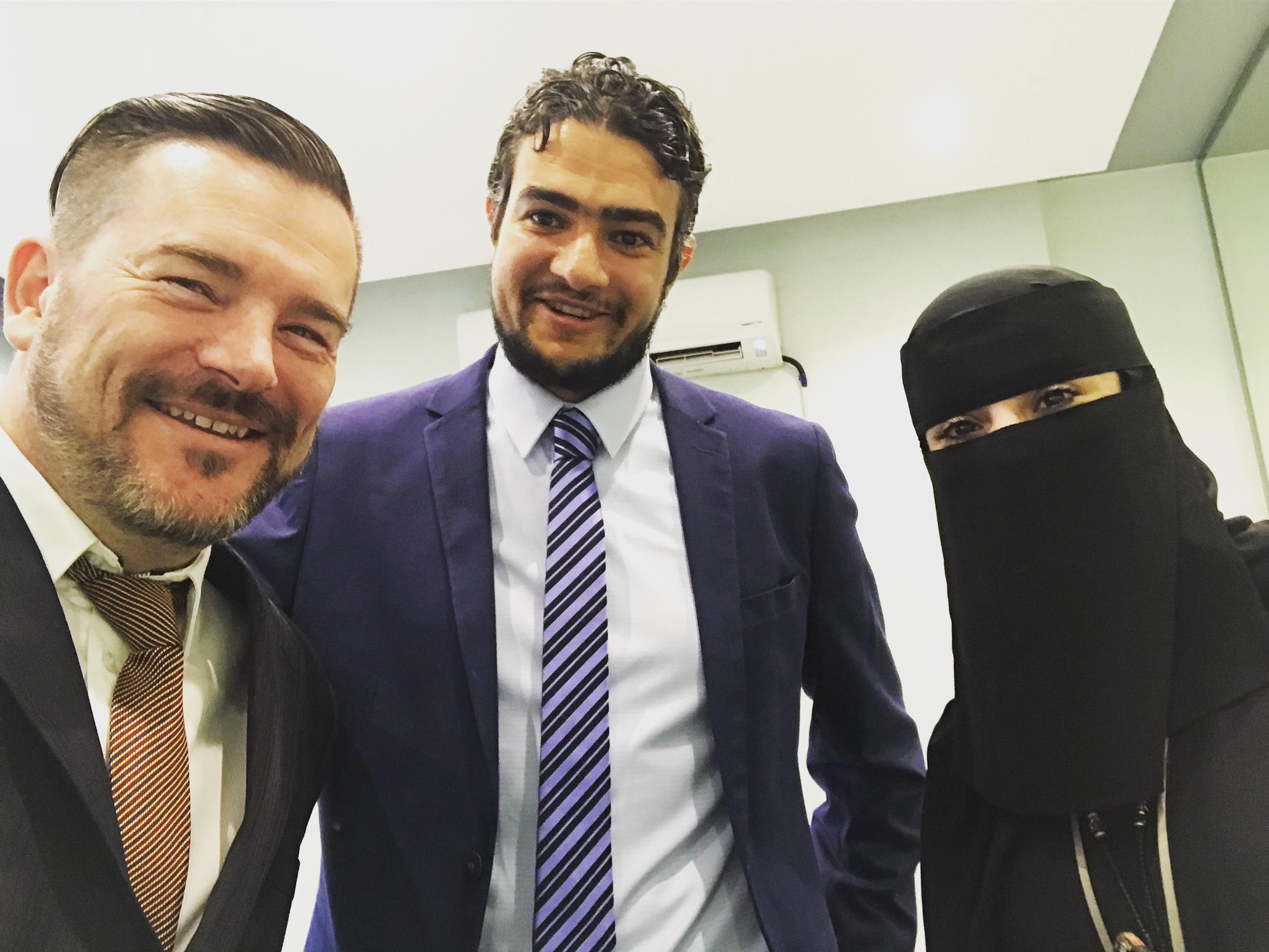 Steven De Costa, Mohamed Hatab and Noura Ziyad
